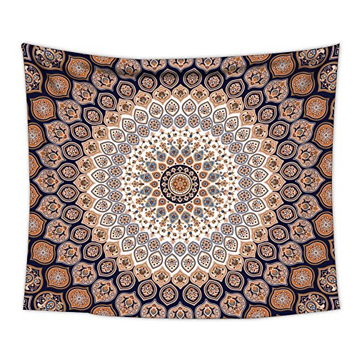 Fabric Wall - Uphome Medallion Pattern Wall Tapestry Hanging - Light-Weight Polyester Fabric Wall Decor (60