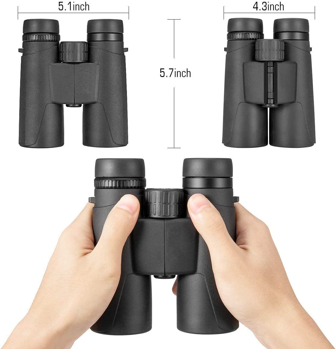 10×42 Binoculars for Adults, Professional Binoculars Compact for Hunting Bird Watching Outdoor Sports, Waterproof Fog-Proof Design,Good Choice for Adults