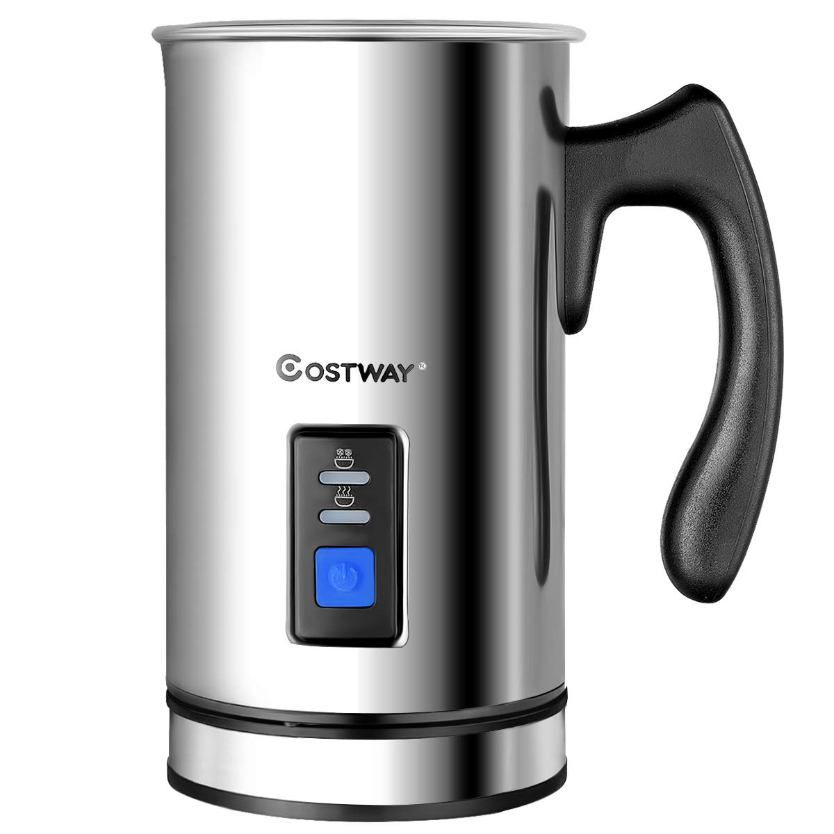 COSTWAY Milk Frother, Electric Automatic Stainless Steel,Non-Stick Interior, Milk Steamer Foamer for Coffee, Latte, Cappuccino with Handheld (Stainless-Update) by COSTWAY (Image #1)
