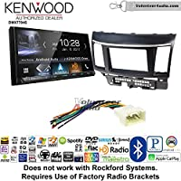 Volunteer Audio Kenwood DMX7704S Double Din Radio Install Kit with Apple CarPlay Android Auto Bluetooth Fits 2008-2015 Mitsubishi Lancer