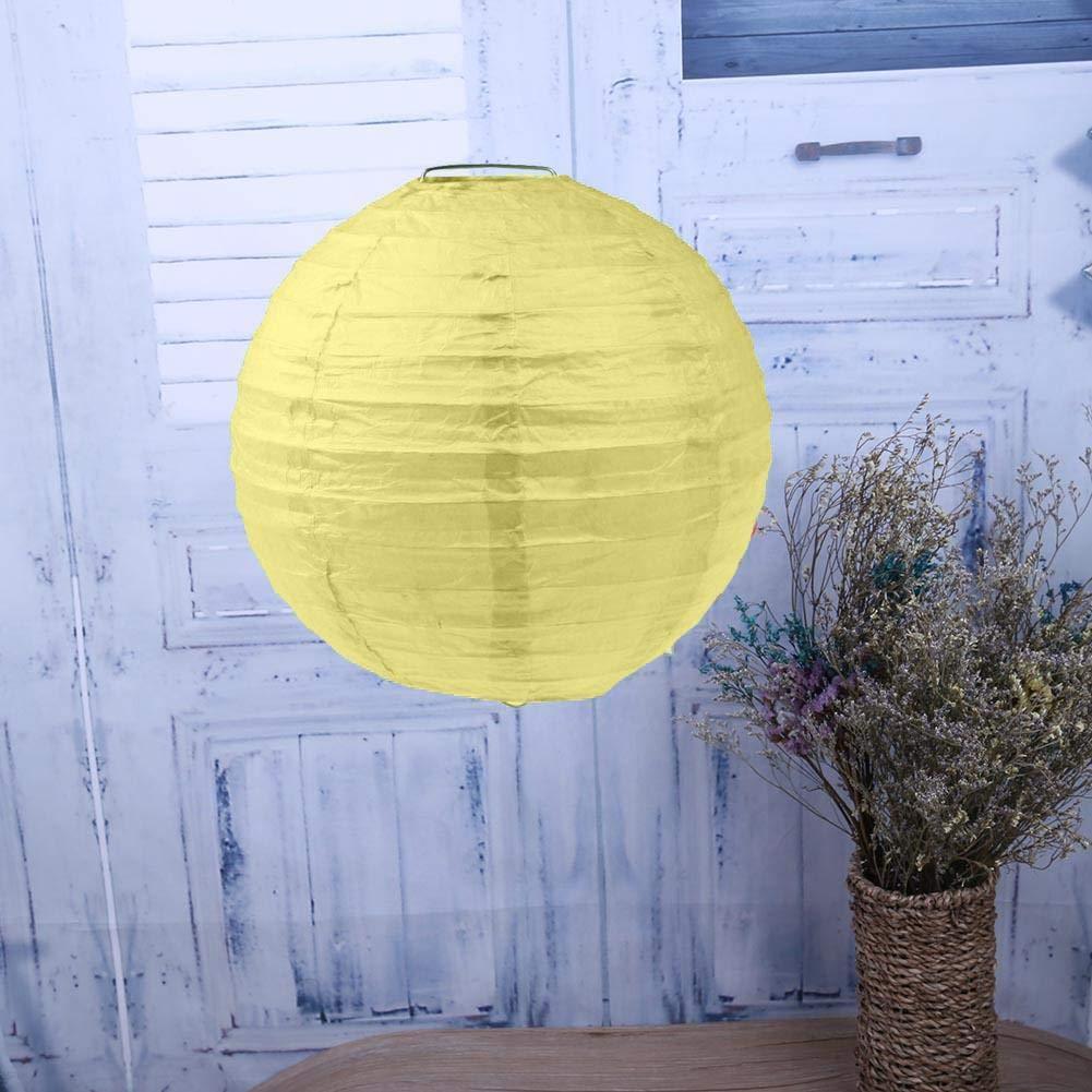 Mikolotuk Lanterne Chinoise en Papier Ronde DIY Suspendue D/écoration Abats-Jour D/écoratives pour Mariage Maison Anniversaire F/ête Orange 10cm