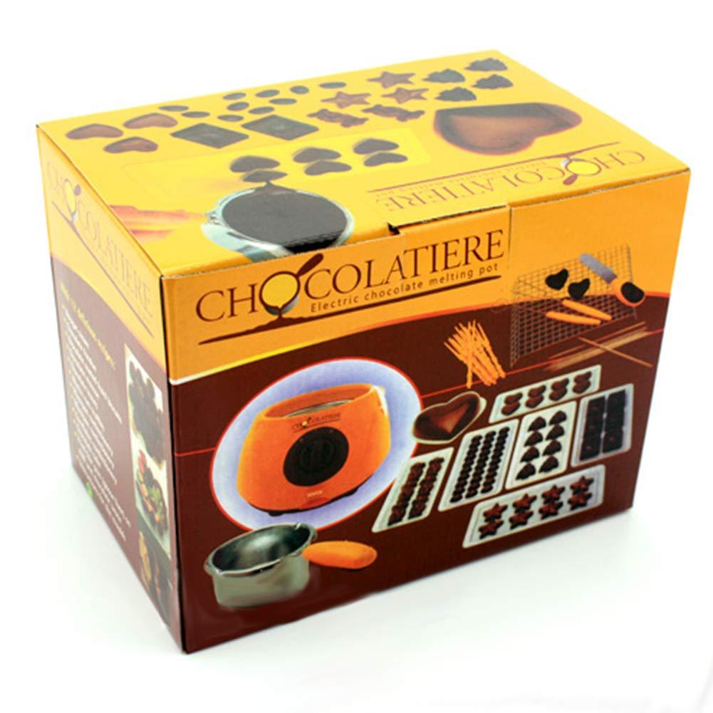 Ocamo Chocolate Melting Warming Pot Electric Fondue Melter Machine DIY Baking Tool Pink US Regulation 110V