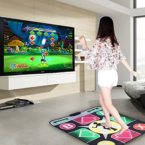 Puronic Non-slip Dance Mats Rhythm Beat Game Dancing Step Pads USB Lose Weight Pads Dancer Blanket USB Entertainment PC Laptop (Pattern 2, 30 mm thick)