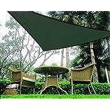 Idirectmart Triangle Sun Shade Sail 16 Feet 5 Inches - Green