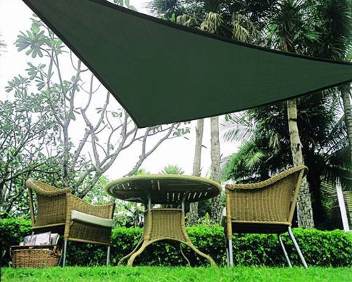 Idirectmart Triangle Sun Shade Sail 16 Feet 5 Inches - Green & 13 Cool Shade Sails for Your Backyard - CanopyKingpin.com