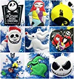 Nightmare Before Christmas 8 Piece Christmas Tree Ornament Set Featuring Jack Skellington and Friends - Around 2.5'' to 3.5'' Tall