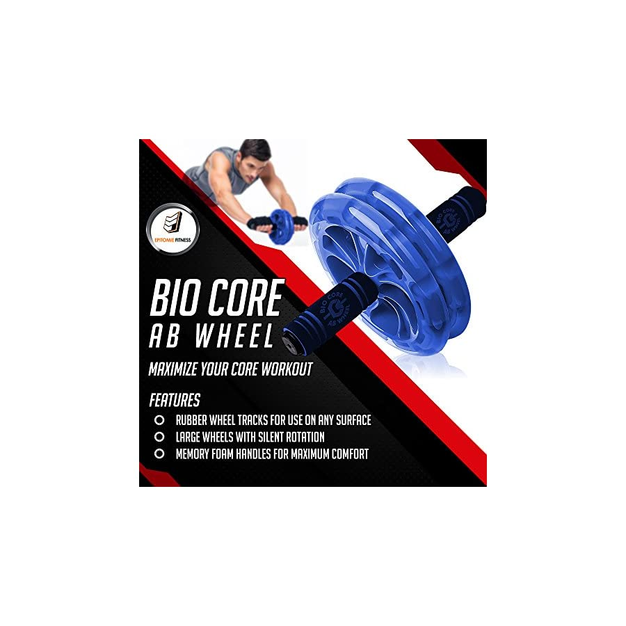 Epitomie Fitness BIO Ab Roller Wheel Ab Carver Exercise Equipment with Fitness Mat to Strengthen Abdominals and Tone Core