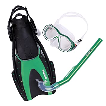 obtenir de nouveaux super mignon baskets ACRATO Kit de Plongée Masque + Palme + Tuba avec Sac Kits de Randonnée  Aquatique Pour Plongée Snorkeling Surfrider Natation