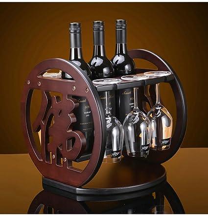 ZHDC® Estante De Vino De Madera Invertido Cup Decoración De Estantería Casa De Moda Decorado