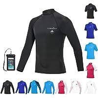 OMGear Rash Guard Swim Shirt Sun Block Short Long Sleeve Surf Tee Adult Kids Snorkeling Suit Swimsuit Top for Kayaking…