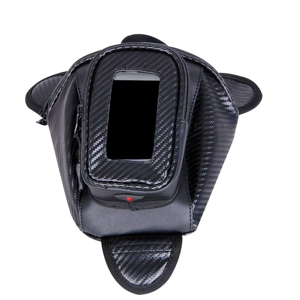 1pc:Noir Sacoche R/éservoir Moto Magn/étique Petit Sac Rangement de R/éservoir Moto avec 3 Aimants et Housse Transparente pour Smartphone//T/él/éphone Portable//GPS