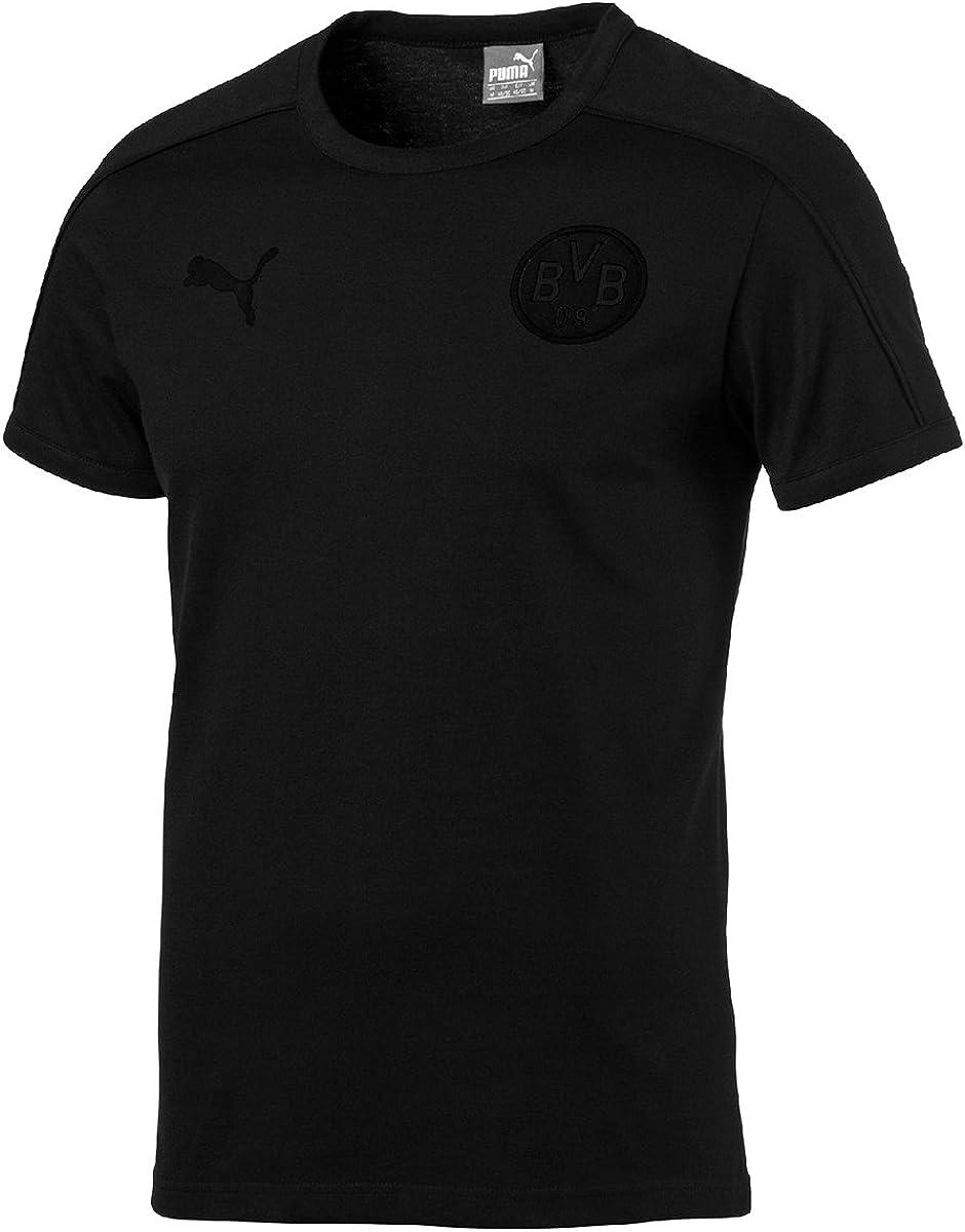 Puma Bvb T7 Blackout T Shirt Trikot Men Borusse Dortmund Black 751774 77 Amazon Co Uk Clothing