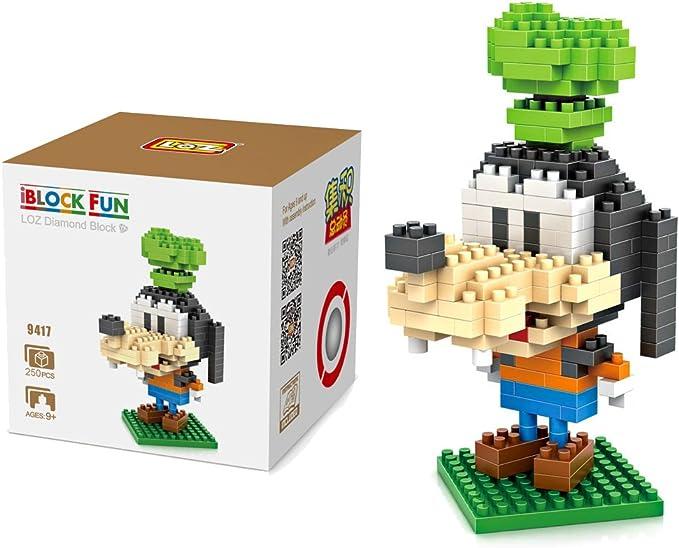 Loz 9417. Kit de construccion miniaturizada. Goofy. 250 piezas: Amazon.es: Juguetes y juegos