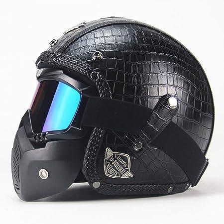 CARACHOME Casco de Motocross con máscara Desmontable para ...