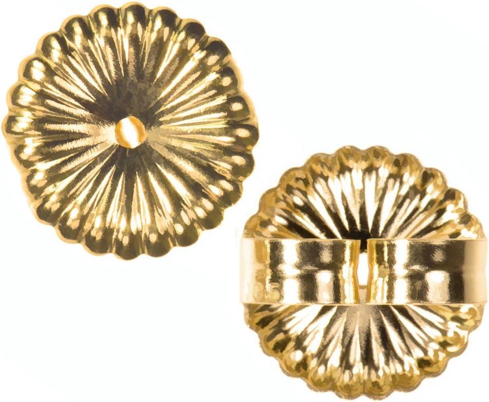 14K Gold Jumbo Earring Back Sunburst Extra Jumbo 9.5mm 1-Pair