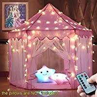 windpnn Kids Play Tent, Pink Princess Castle Play House,...