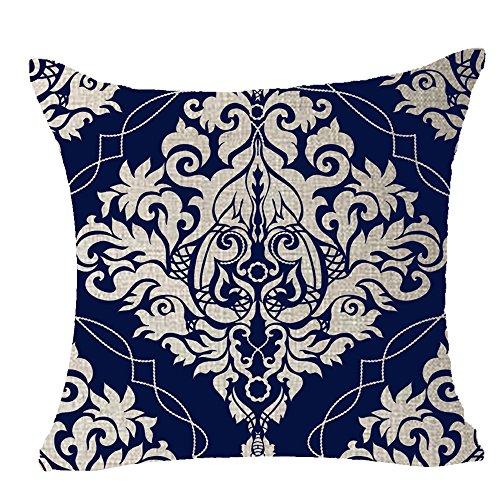 Cotton Linen Square Decorative Throw Pil - Beautiful Blue Porcelain Shopping Results