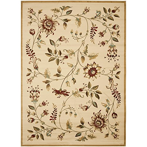 Safavieh Lyndhurst Collection LNH552-1291 Traditional Floral Ivory and Multi Area Rug (8'9