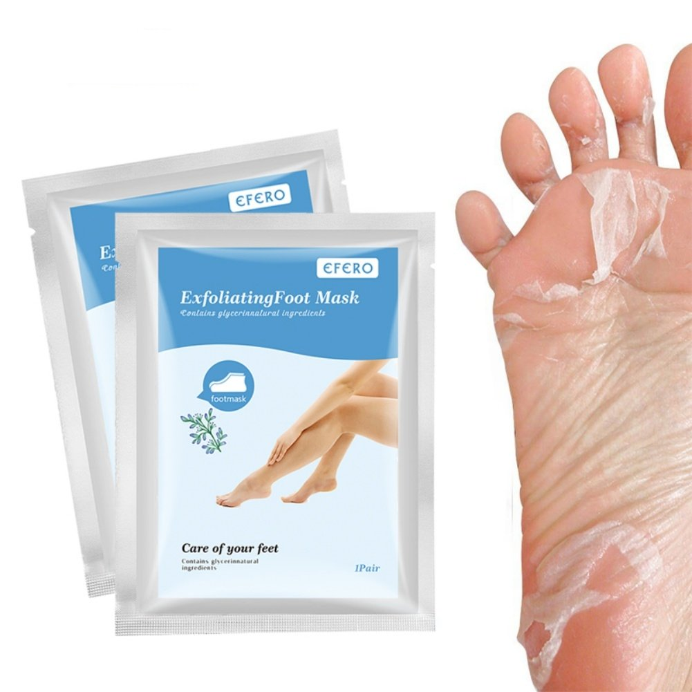 2 Pair Foot Mask Renewing Baby Foot Removing Calluses Dead Skin Exfoliating Feet Socks Calluses Whitening Moisturizing Tender Heel Dry Feet Care Peeling Foot Film Foot Mask Peeling Lavender Foot Care Dead Skin Remover Feet Skin Care Skin Care Foot Soak Co
