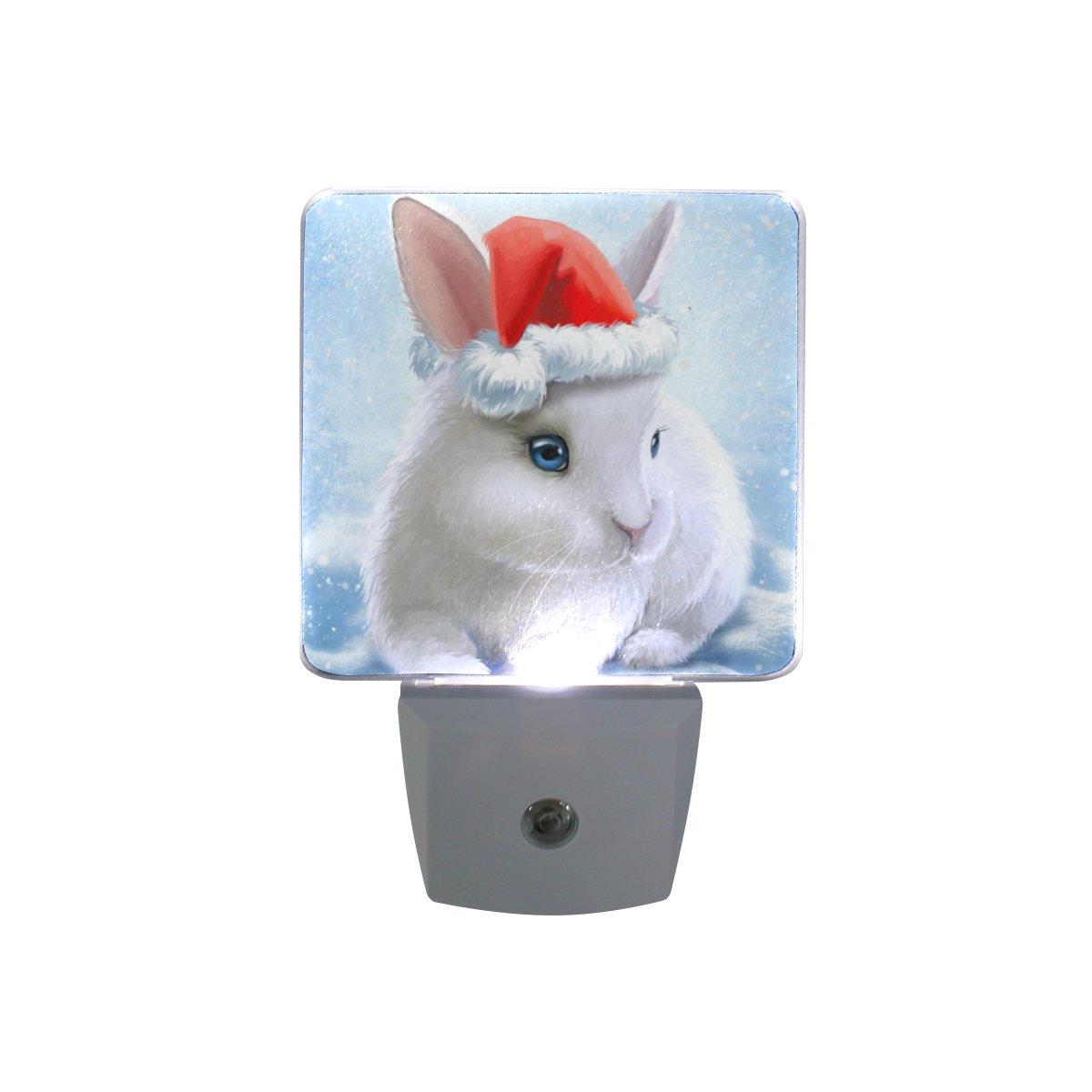 JOYPRINT Led Night Light Cute Animal Rabbit Bunny, Auto Senor Dusk to Dawn Night Light Plug in for Kids Baby Girls Boys Adults Room by JOYPRINT (Image #3)