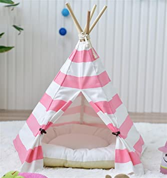 AnGe Pet Teepee, extraíble y lavable Cama para mascotas Pet Play House para perro Cat Pet: Amazon.es: Deportes y aire libre