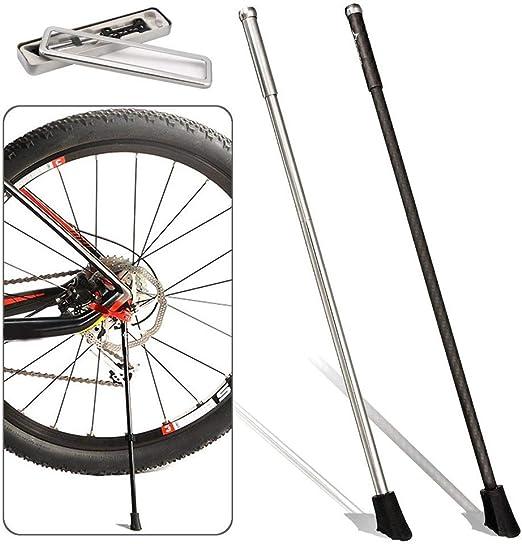 Soporte de la bici Acero inoxidable Fibra de Carbono / bici pata ...