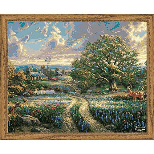 Plaid Creates Paint by Number Kit (16 by 20-Inch), 22063 Country Living by Thomas Kinkade