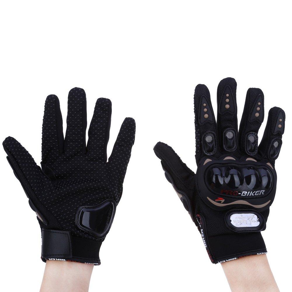 Doinshop 2015 Rock Black Short Sports Leather Motorcycle Motorbike Summer Gloves