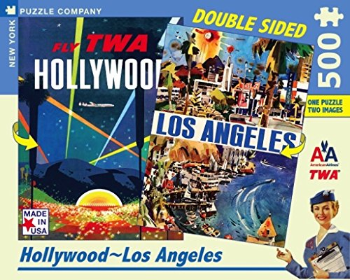 American Airlines 500 - New York Puzzle Company - American Airlines Hollywood-LA - 500 Piece Jigsaw Puzzle