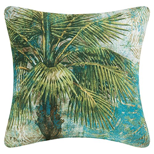 Tropical Palm Tree Decorator Pillow, Indoor Outdoor Use