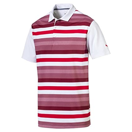 0daea03068 PUMA Golf Men's 2018 Turf Stripe Polo: Amazon.in: Sports, Fitness ...