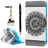 Galaxy J3 Case, Express Prime Case, Amp Prime Case, YOKIRIN Stand Feature, Double Layer Shock Absorbing Premium Soft PU Leather Printed Book Design Wallet Cover Flip Cases, Totem