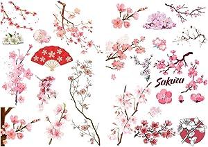 Seasonstorm Pink Sakura Cherry Blossoms Precut Decoration Album Planner Stickers Scrapbooking Diary Sticky Paper Flakes (CK091)