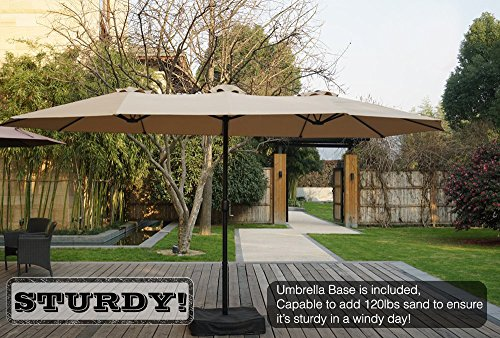 Buy patio umbrella for windy area