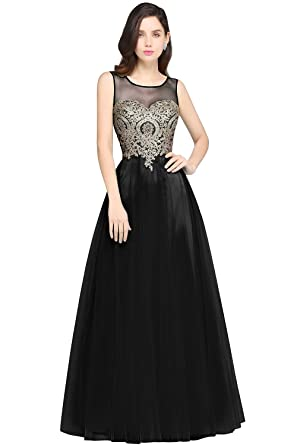 65b266a8f3d7 Babyonline Blue Long Prom Lace Dresses Evening Gowns with Sequins at Amazon  Women's Clothing store: