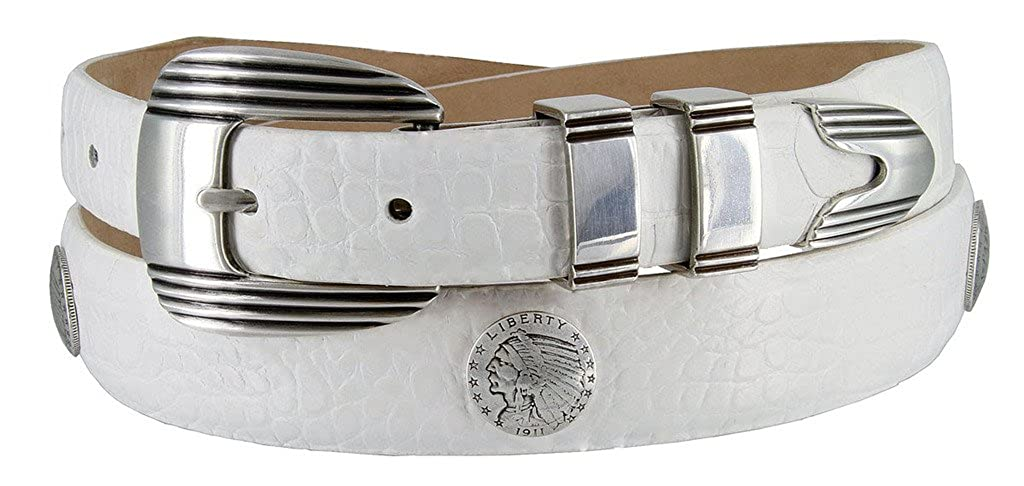 Buffalo Nickel and Indian Concho Belt for MenMultiple colors Available