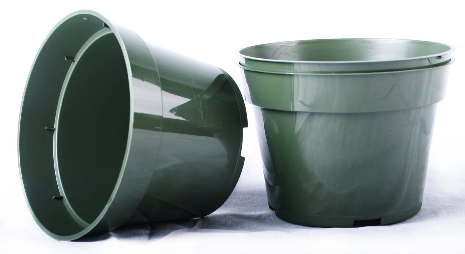 Azalea 40 NEW 10 Inch Plastic Nursery Pots ~ Pots ARE 10 Inch Round At the Top and 7.3 Inch Deep. Color Green