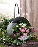 The Lakeside Collection Hanging Pail Planter with Hook