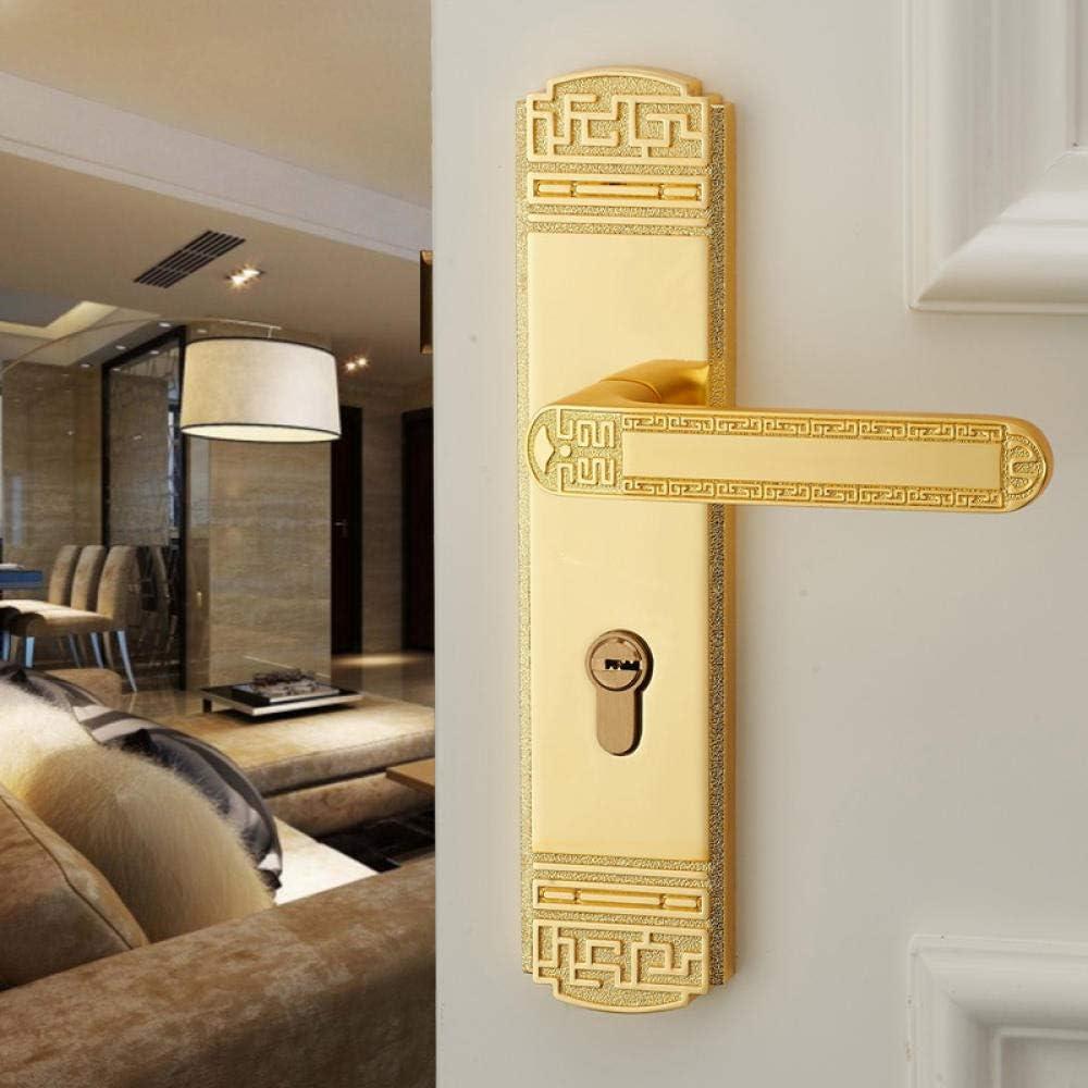 Cerradura de puerta china negra Tirador de puerta de madera maciza ...