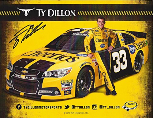 - AUTOGRAPHED 2016 Ty Dillon #33 Cheerios Team (Richard Childress Racing) Sprint Cup Series Driver Signed Collectible Picture NASCAR 9X11 Inch Hero Card Photo with COA