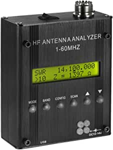 KKmoon Mr300 Antena Analizador Metro Ensayador 1-60Mhz Rf Swr Digital Onda Corta para Jamón Radio