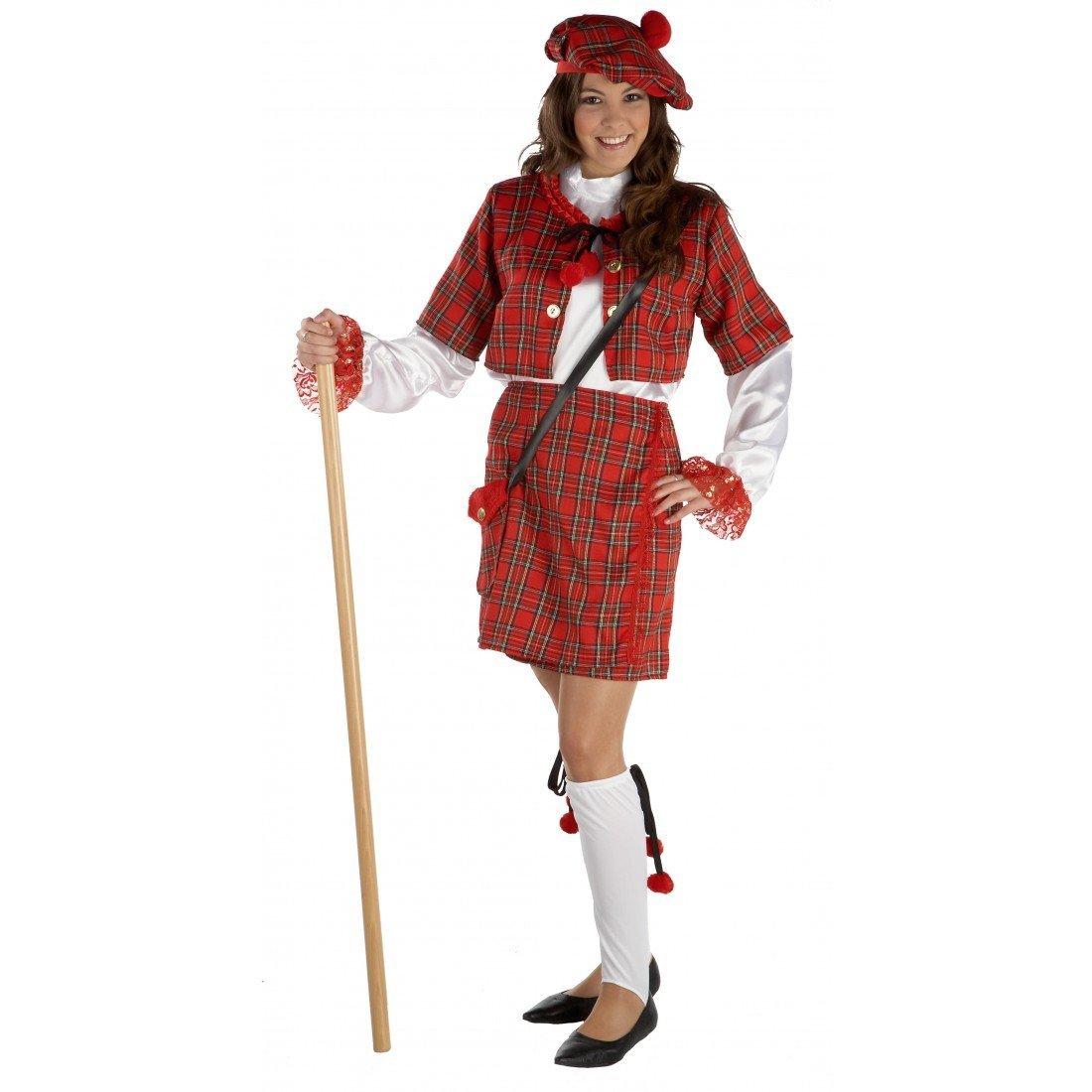 Disfraz escocesa adulto. Talla 40/42.: Amazon.es: Juguetes y juegos