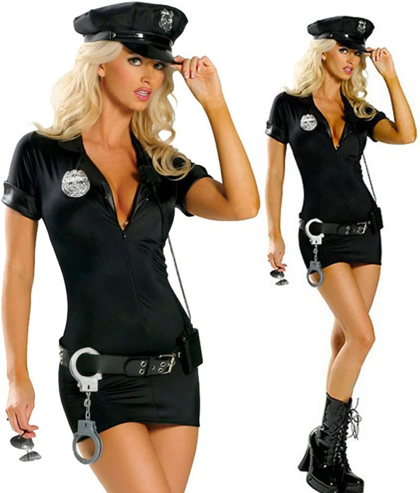 Disfraz de policía para mujer, disfraz sexy de Halloween, 4 ...
