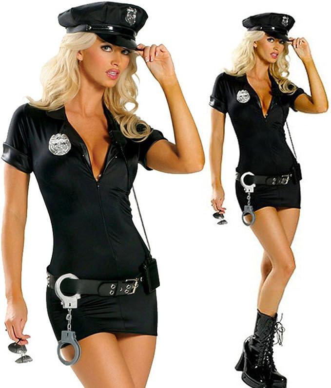 Suppyfly - Disfraz sexy de policía para mujer, para Halloween con ...