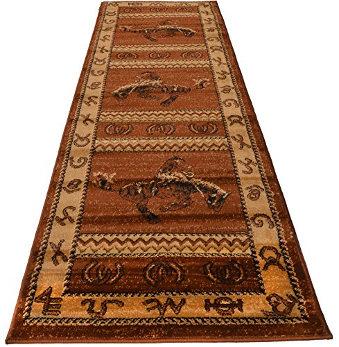 Large Western Rugs: Rugs 4 Less Collection Cowboy Horse Western Cabin Style