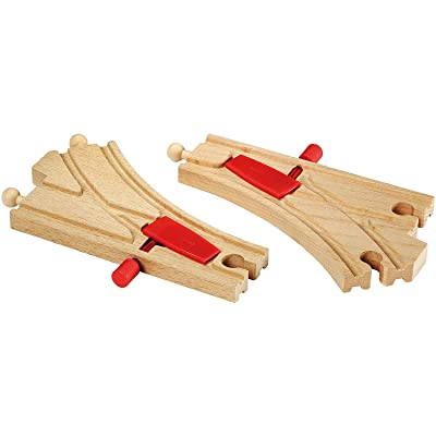 BRIO World - 33344 Mechanical Switches | 2 Piece Wooden Train Tracks for Kids Ages 3 and Up: Toys & Games