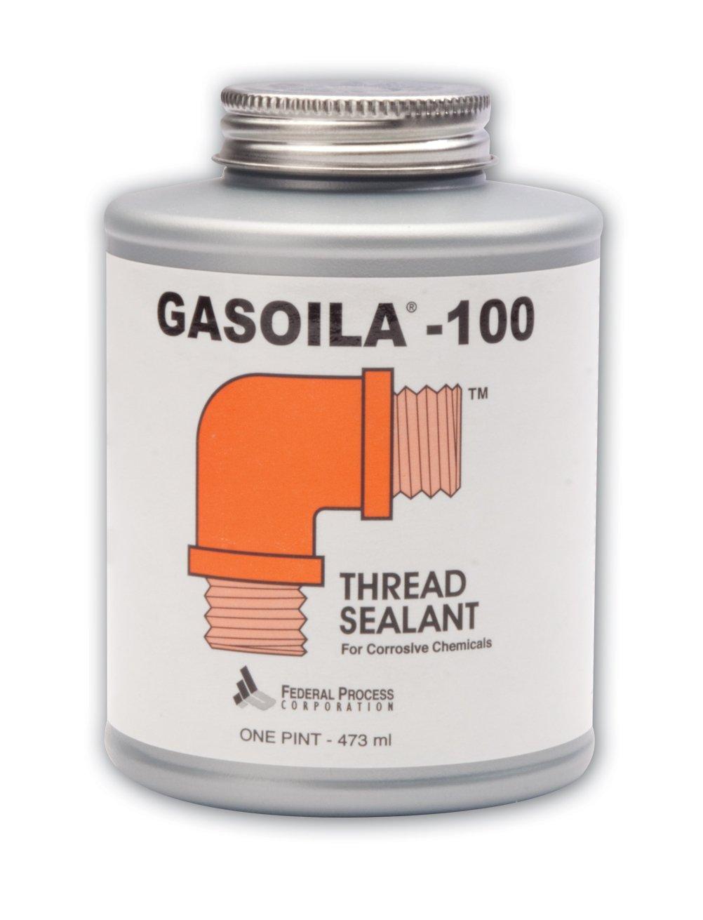 Gasoila 100 Soft-Set Thread Sealant, -50 to 450 Degree F, For Corrosive Chemicals, 1/4 Pint Brush
