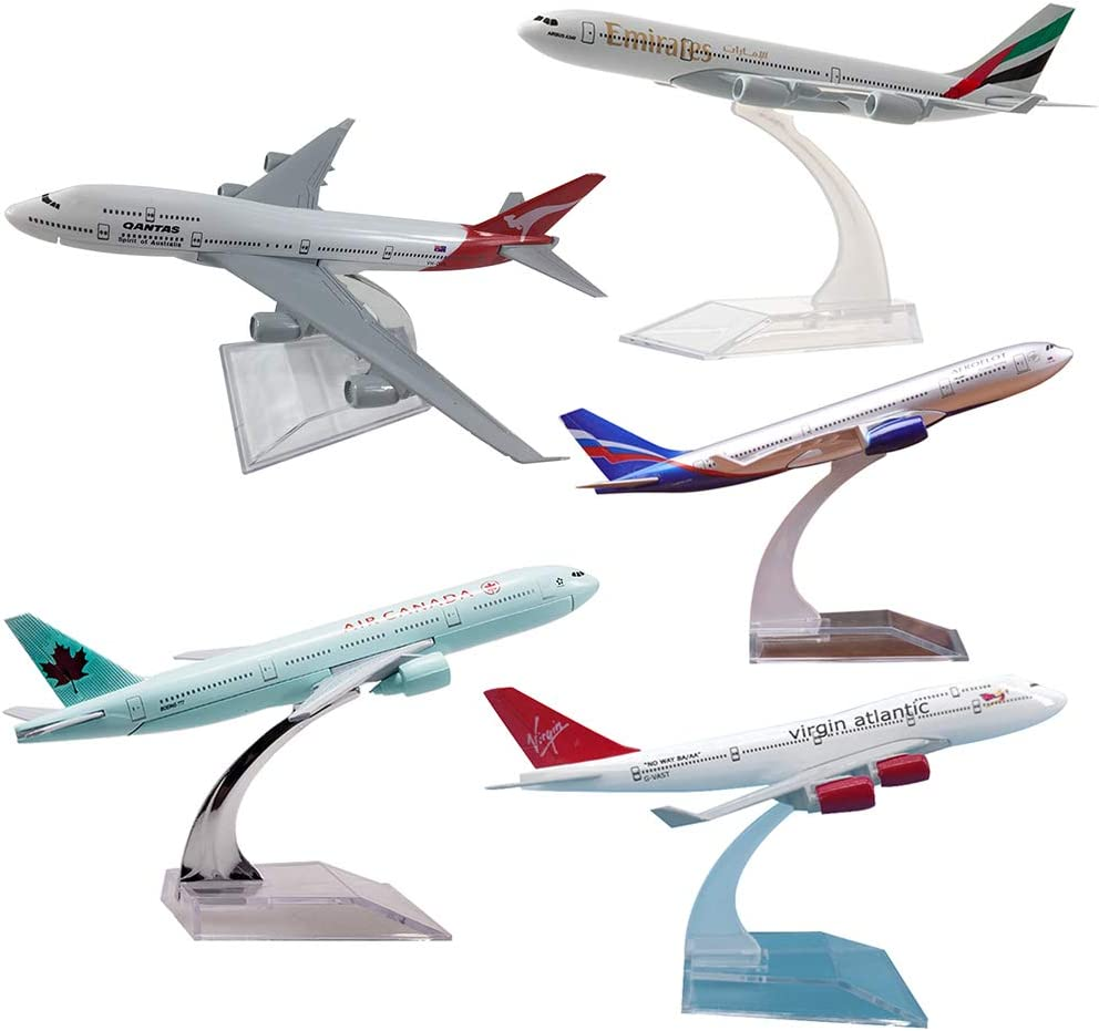 Shuohu 1//400 6.2Inch A330,747,A380,777,A380 Diecast Airliner Plane Model Toy with Base Stand Russian A330