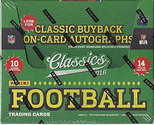 (2016 Panini Classics Football Hobby Box (14 Packs/Box, 10 Cards/Pack - 1 Autograph per box,1 Rookie per pack))
