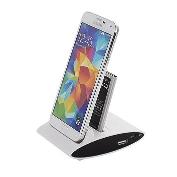 VicTsing 3 en 1 Base de Carga OTG USB Data Sync Cargador para Samsung Galaxy S4 i9500 - Blanco